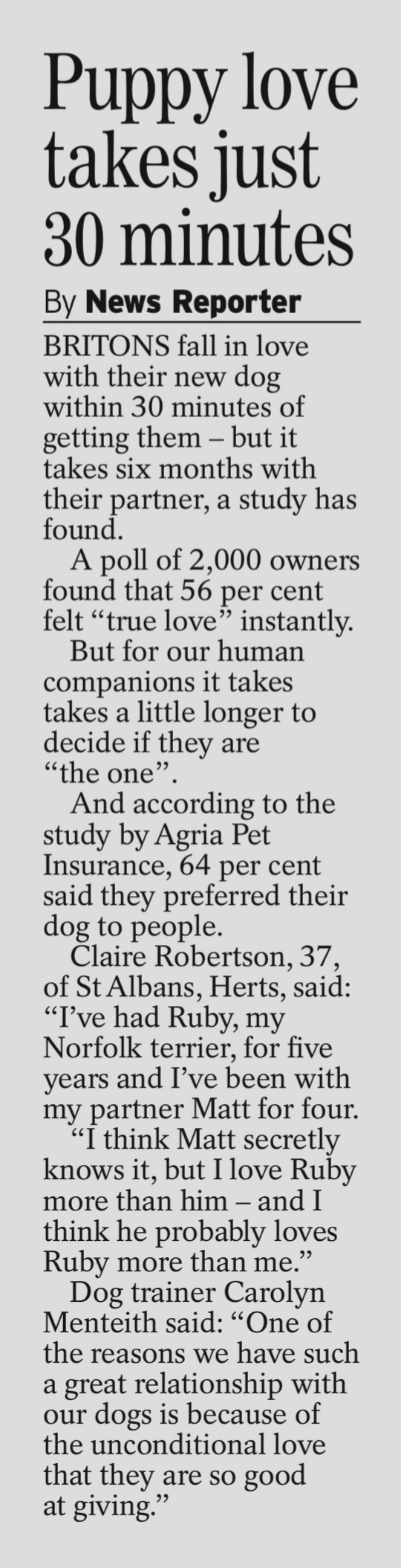 COVERAGE FOR AGRIA PET INSURANCE