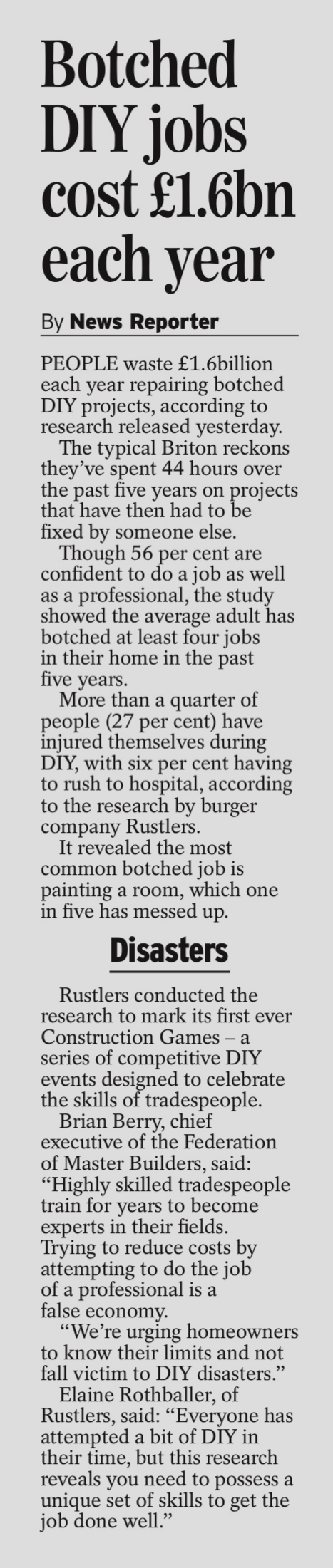 COVERAGE FOR RUSTLERS