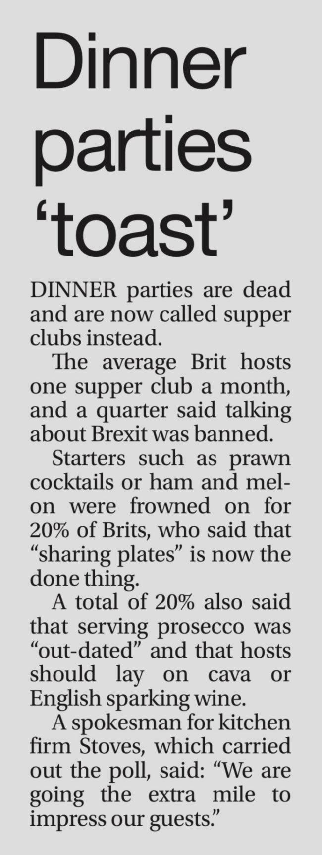 Dinner Parties – Sun Online