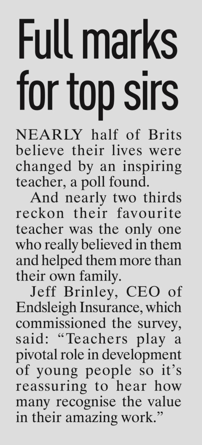 COVERAGE FOR ENDSLEIGH